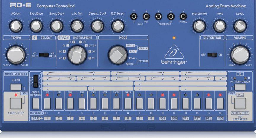 Клон Roland TR-606 — Behringer RD-6 поступила в продажу