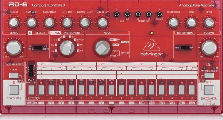 Клон Roland TR-606 – Behringer RD-6 поступила в продажу