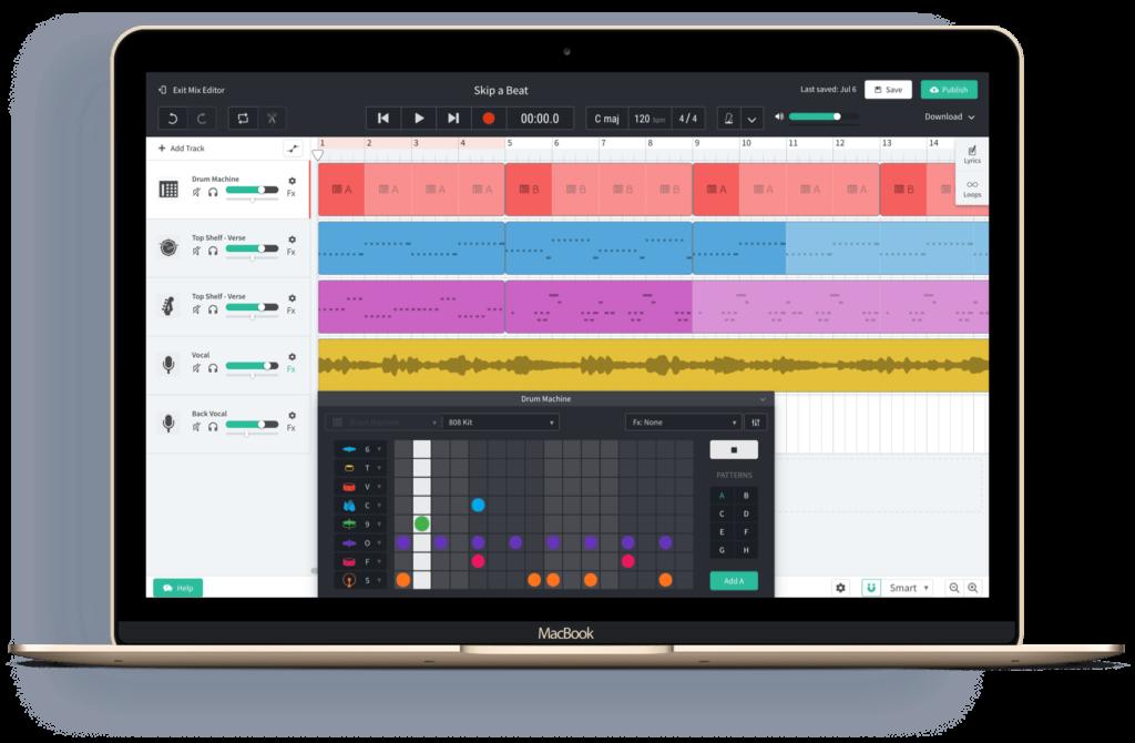 Создание музыки онлайн бесплатно - Bandlab