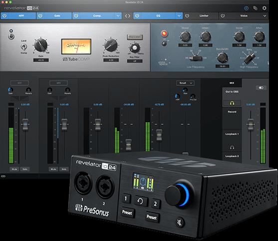 Доступный аудиоинтерфейс для авторов подкастов PreSonus Revelator io24